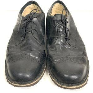 Ugg N3270 Wingtip Black Sheepskin Oxford shoes